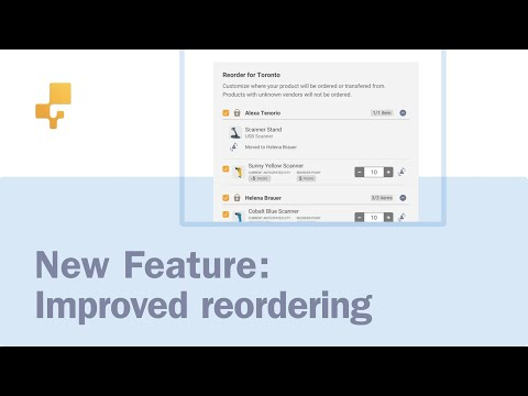 New Feature: Improved Reordering