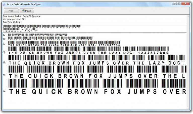 free barcode font for excel 2010