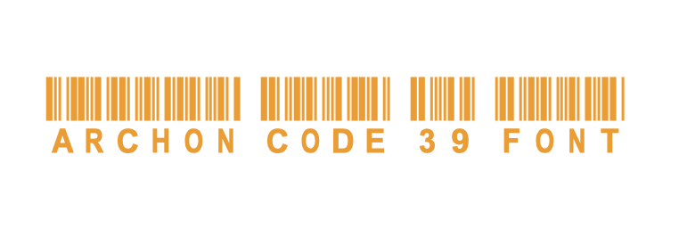 archon code 39 barcode font