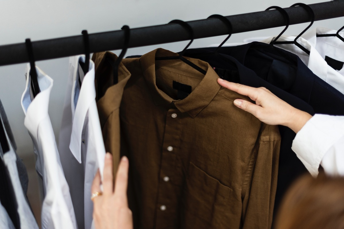 Photo of a shirt rack (credit to Rawpixel on Unsplash)