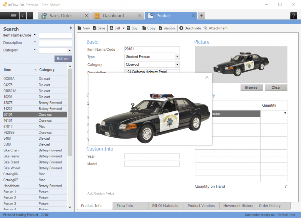 Enlarge images in inFlow On-Premise 3.6
