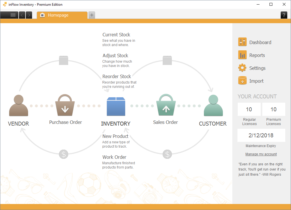inFlow Inventory On Premise Management Software Features