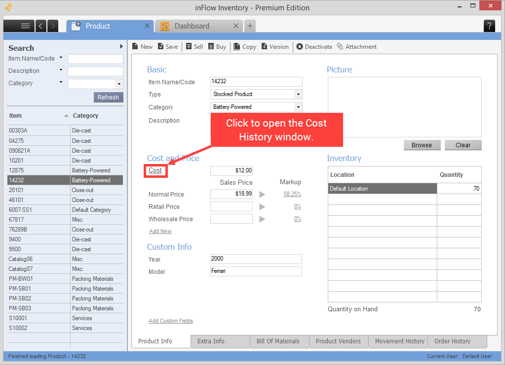 My Product S Cost Is Wrong How Do I Change It In Inflow On Premise