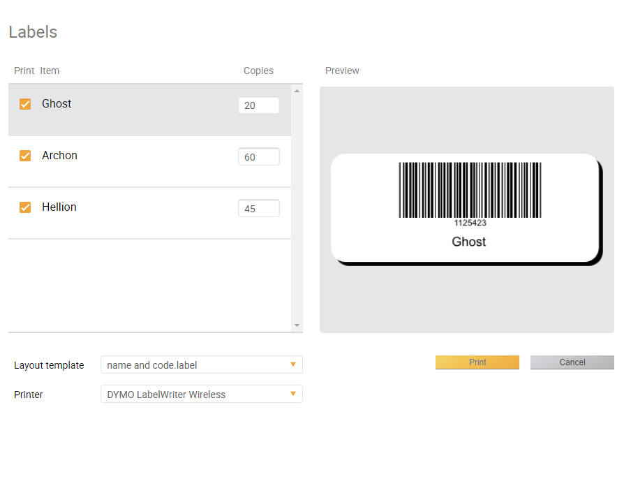 Easily Use a Barcode Label Printer with Dymo and inFlow
