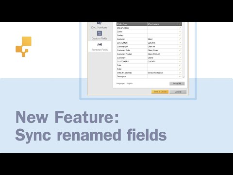 New feature: Sync renamed fields