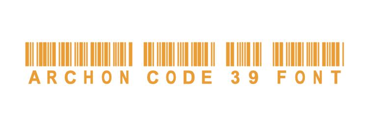 archon code 39 barcode font