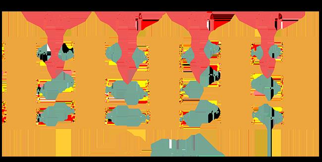 Diagram of aisles A through D in a warehouse.