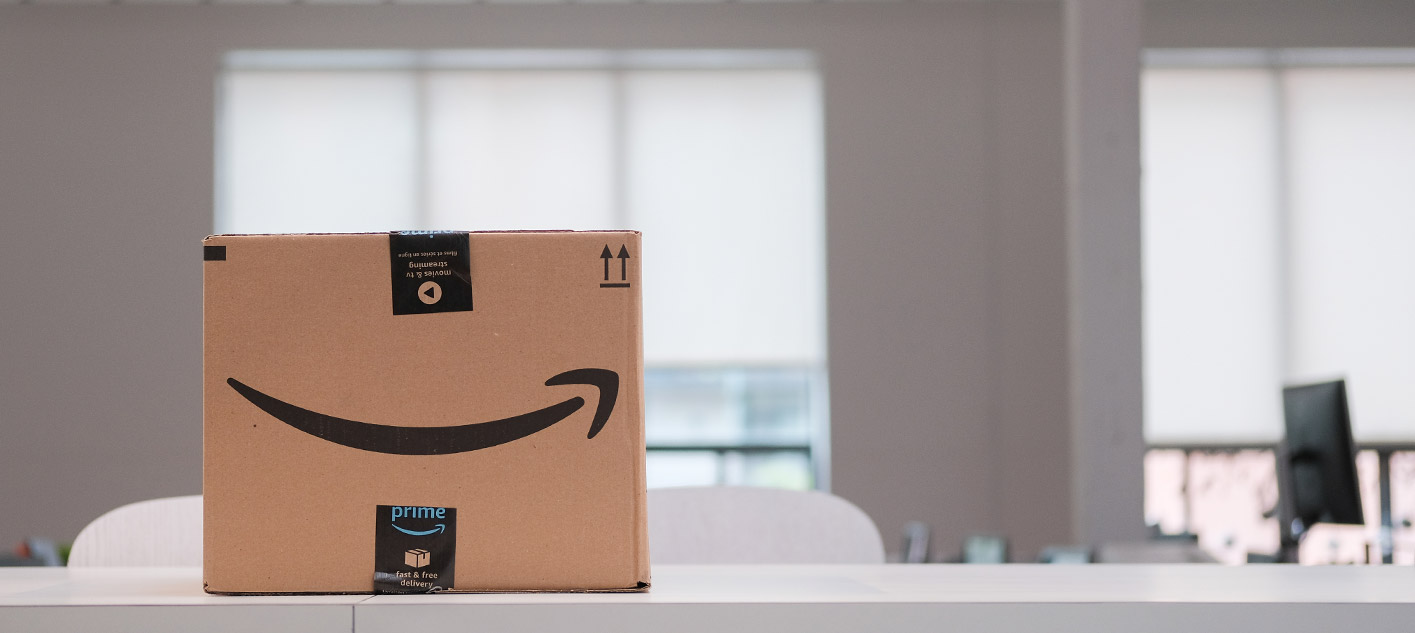 Picture of an Amazon box