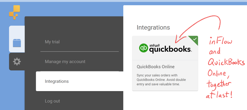 inFlow and QuickBooks Online, together at last!