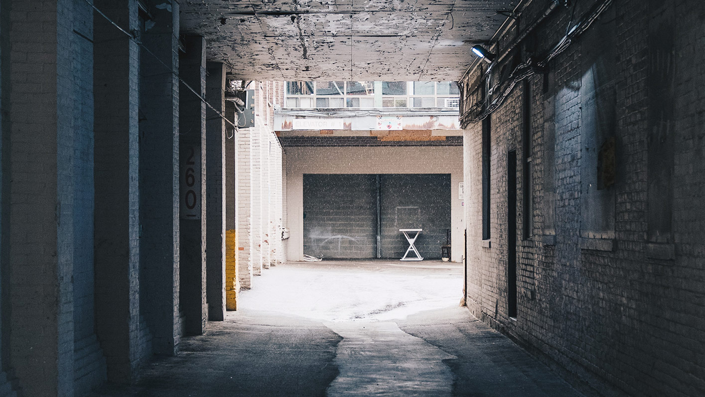 A picture of a warehouse entrance